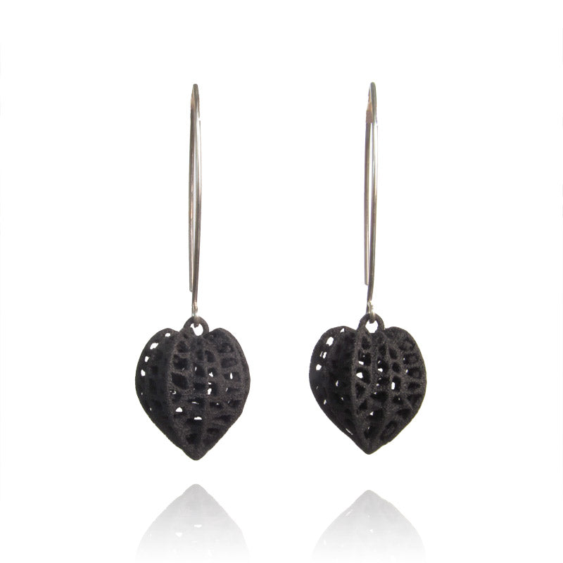 black gooseberry earrings