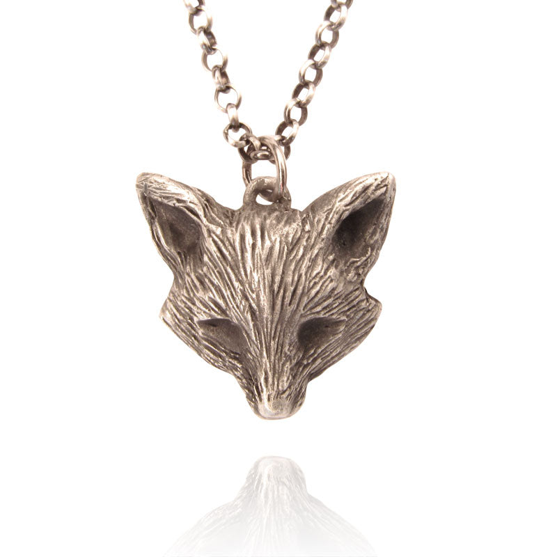 Fox Necklace, Sterling Silver