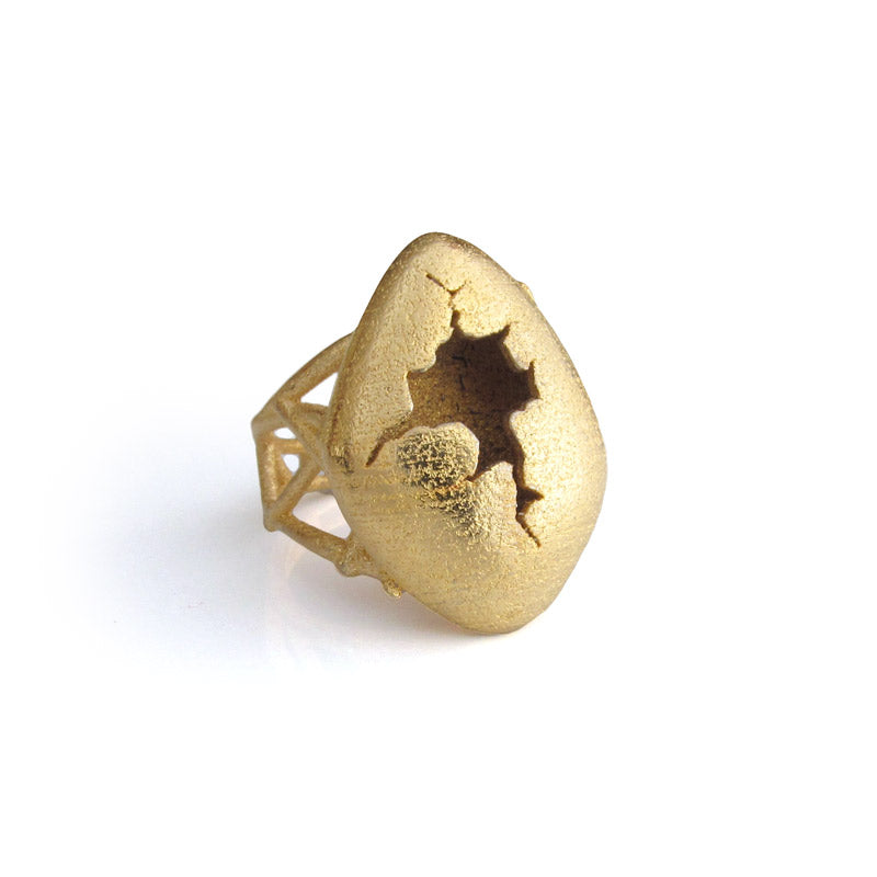 Gold Egg Ring