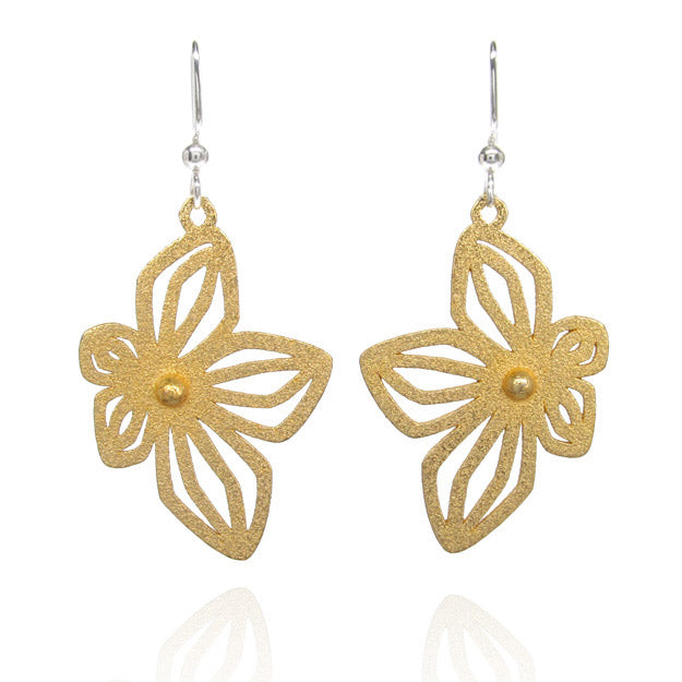 3D printed flower earrings