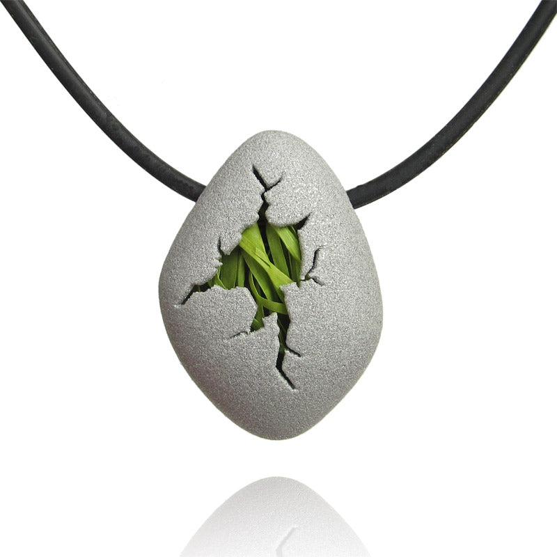 Green Pendant, Grey Green Jewelry