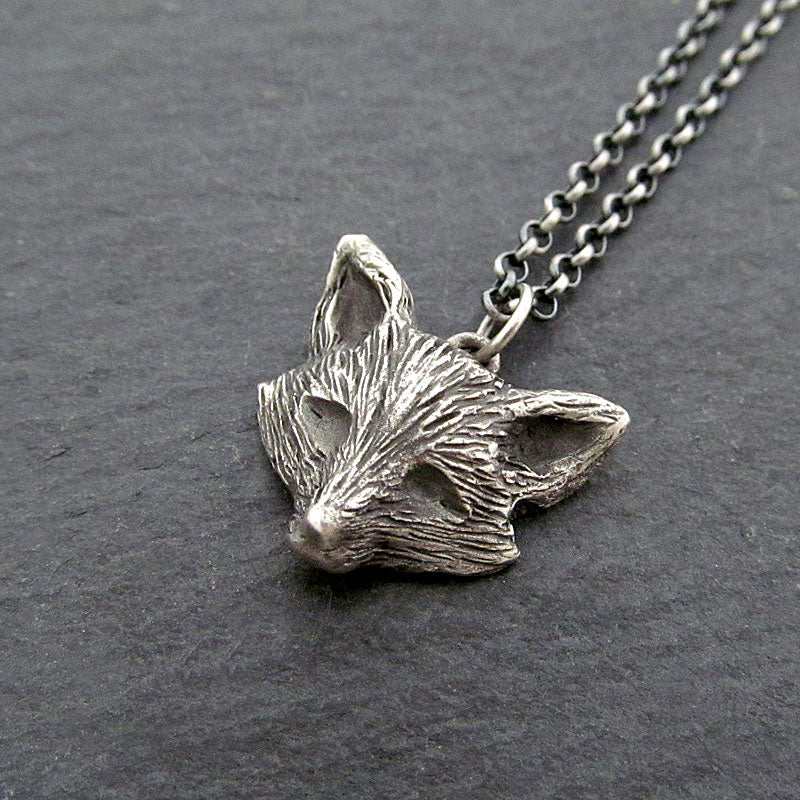 Handmade fox necklace
