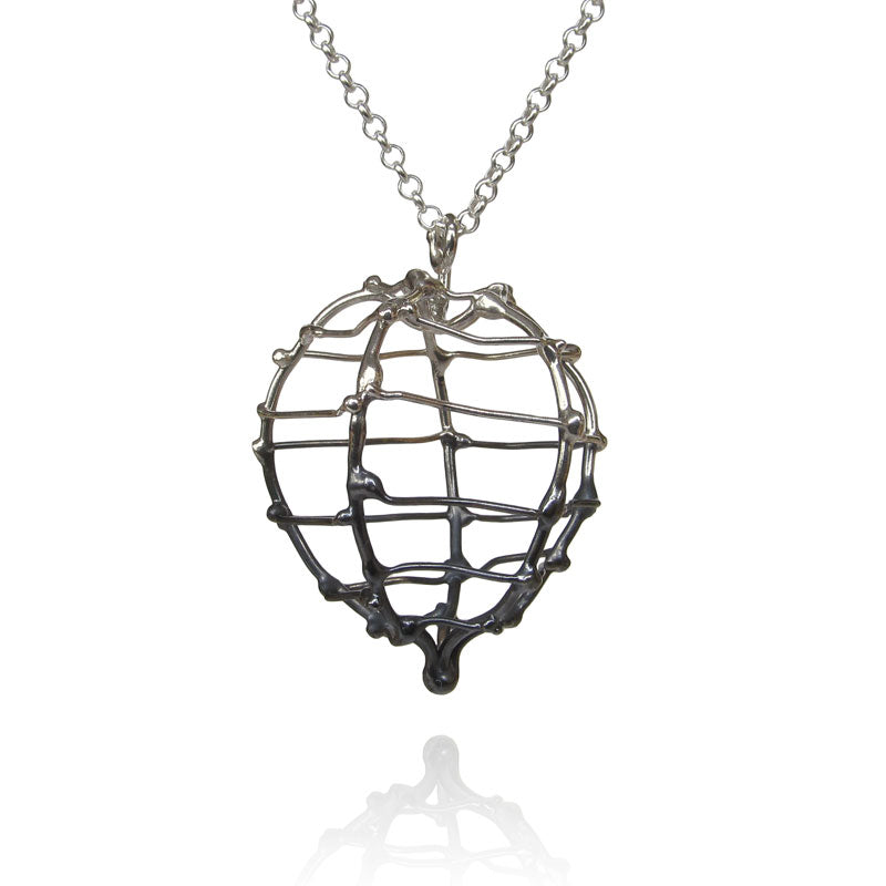 Large Oxidized Pendant
