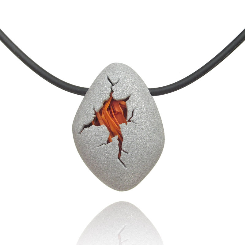 Orange egg pendant