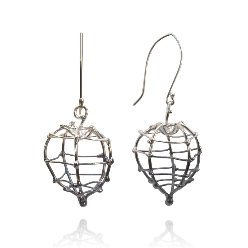 Large physalis earrings