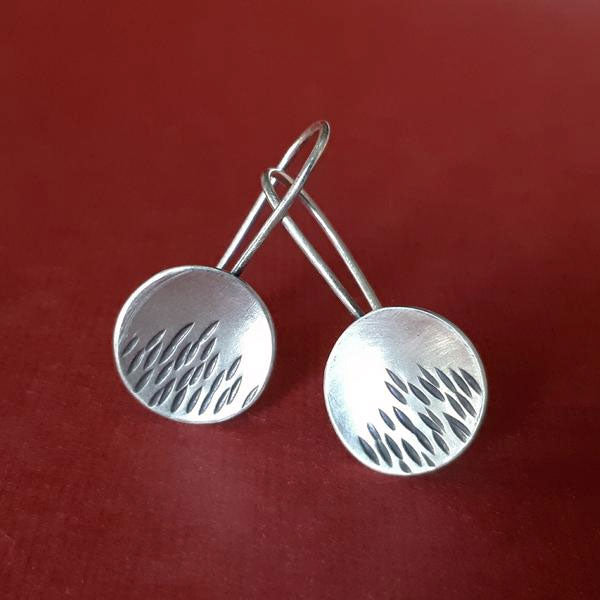 short silver earrings