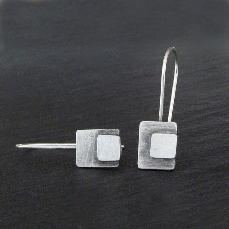 Argentium silver earrings