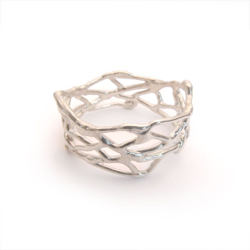 Sterling silver nest ring