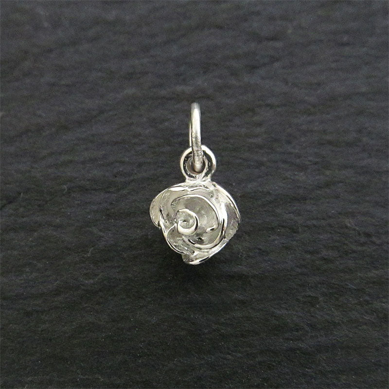 Sterling silver rose pendant polished finish