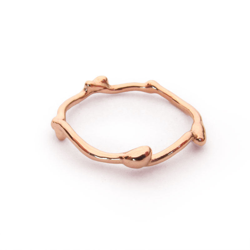 Twig Ring, 14 rose gold