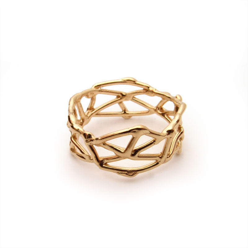 18k yellow gold nest ring