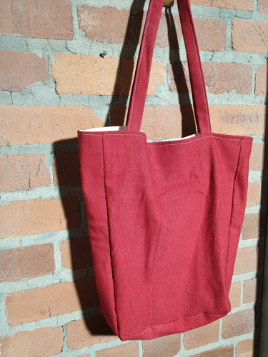 red tote bag