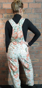 Flower dungarees size 8-10