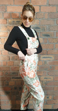 Load image into Gallery viewer, Flower dungarees size 8-10