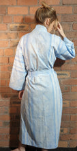 Load image into Gallery viewer, blue cotton handmade dressing gown size 8-14