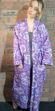 Load image into Gallery viewer, purple and blue handmade dressing gown size 6-12
