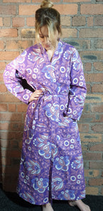 purple and blue handmade dressing gown size 6-12