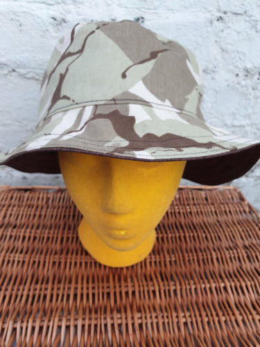Camo and Brown reversible unisex bucket hat