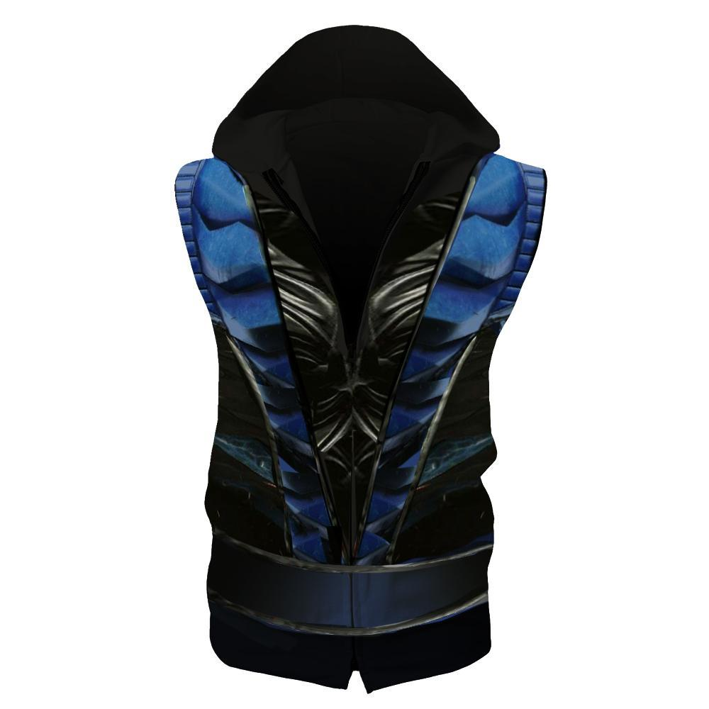 Wool Pullover Hoodie Boys Girls 3D Creative Graphic Hooded Sweatshirt Slim Mortal-Kombat-Sub-Zero-Blue