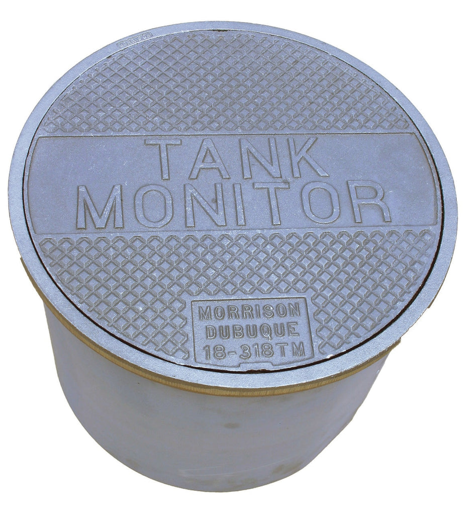 "Morrison Bros. 18 in. 318 Series Manhole w/ ""TANK MONITOR"" on Cover & 12 in. Skirt"