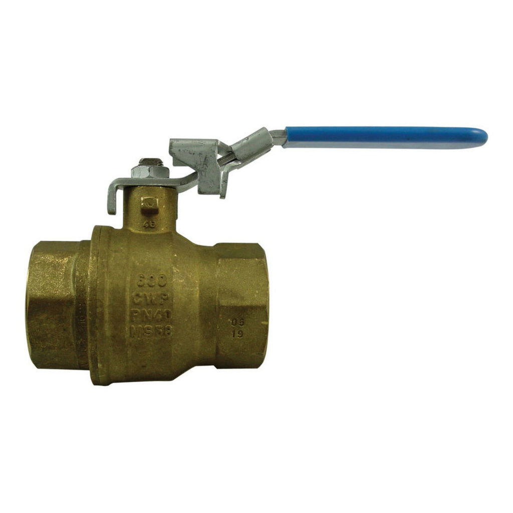 Morrison Bros. 691B Series 3 in. NPT Locking Brass Ball Valve - Full Port