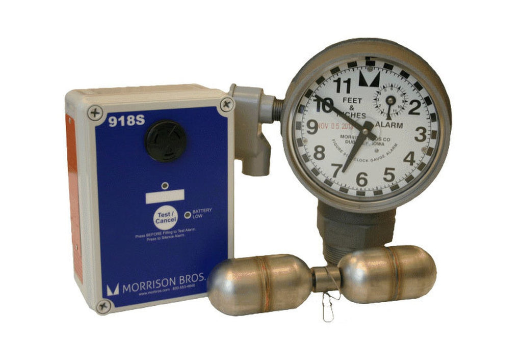 Morrison Bros. 918 Series 2 in. Male NPT Clock Gauge Alarm w/ Standard Float - Feet & Inches
