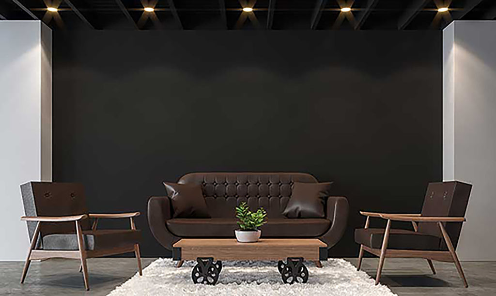 Black and gold tones are a great way to completely change the look and feel of your apartment.