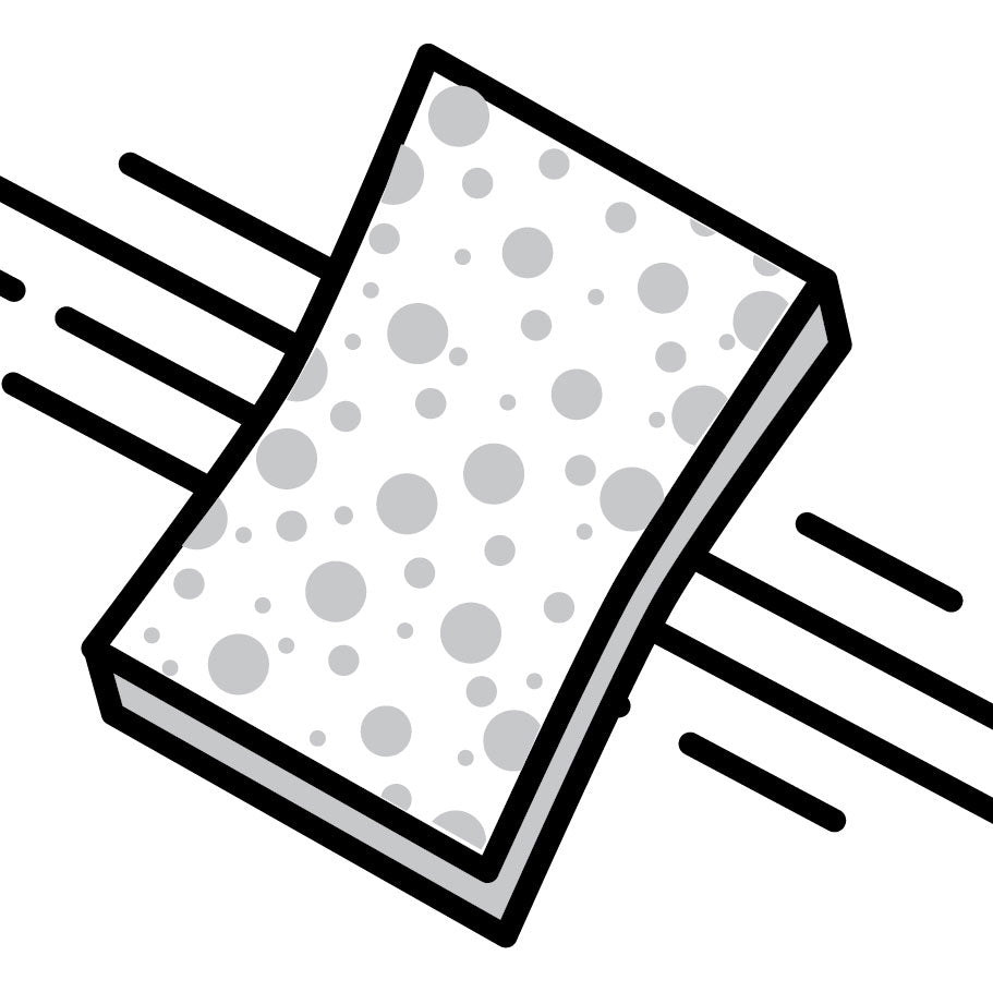 Graphic Clip Art image of sponge on surface.
