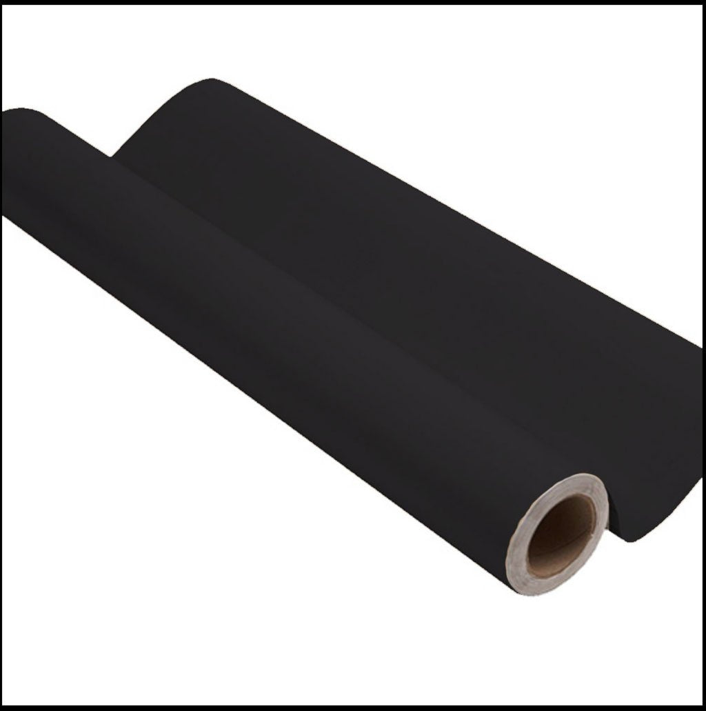 Black peel and stick removable paint and solid black wallpaper roll- Pitch Black TemPaint