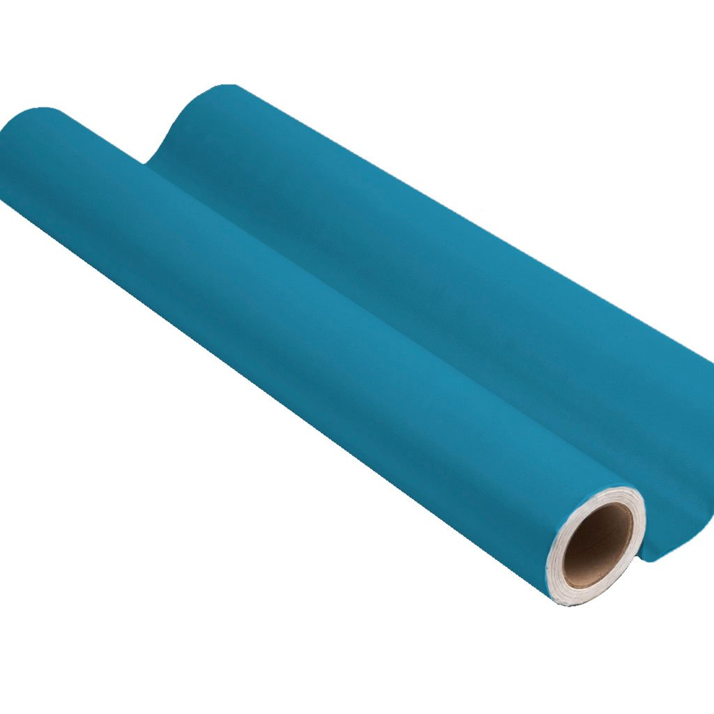 Bright blue peel and stick removable paint and blue solid color wall paper roll - Monterrey Blue TemPaint