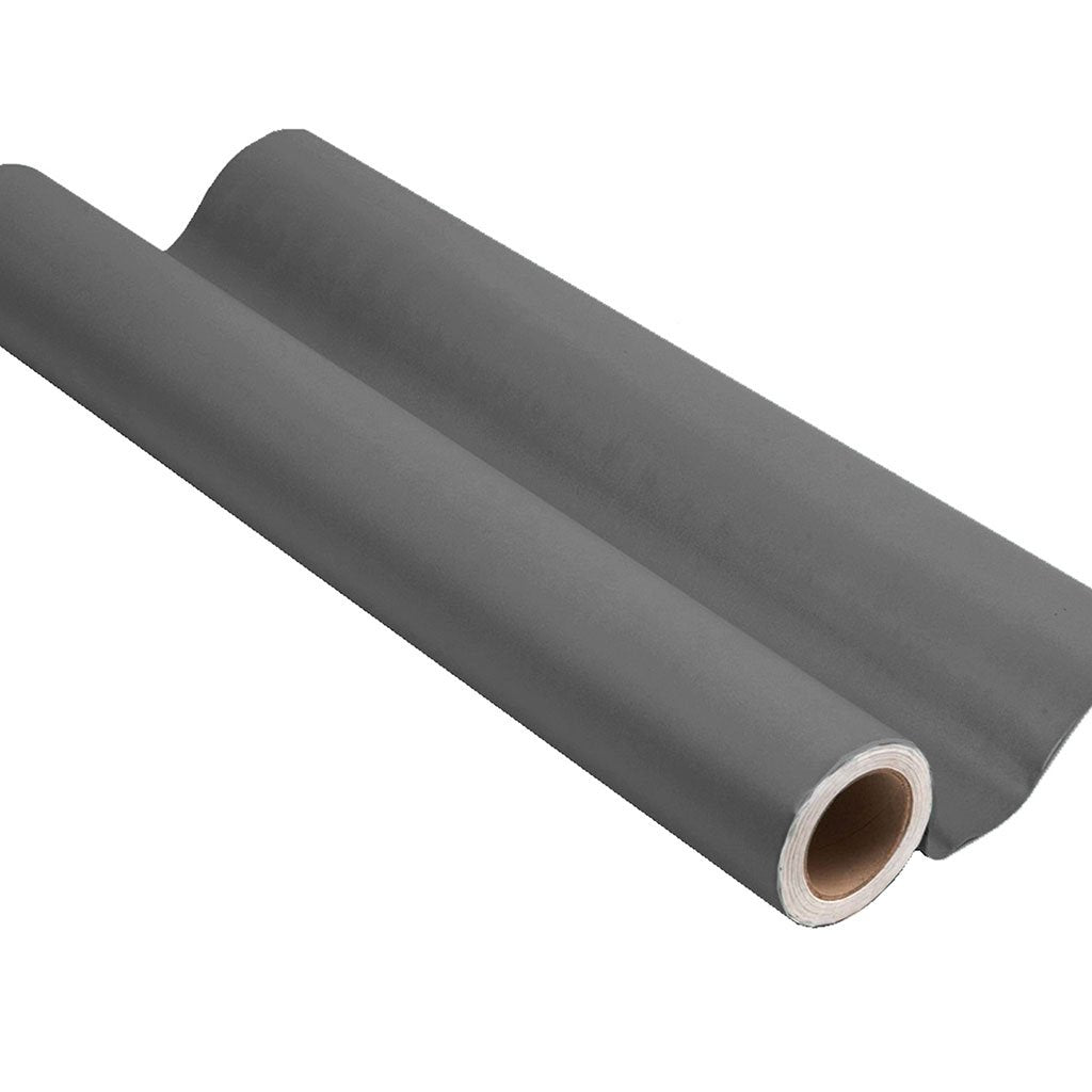 Gray peel and stick removable paint and solid gray wall paper roll - Portland Gray TemPaint