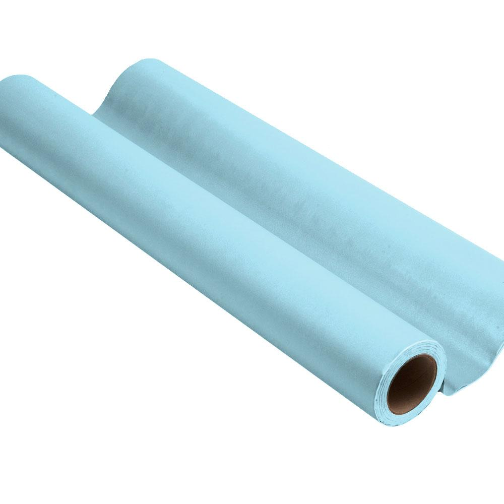 Light blue peel and stick removable paint and solid light blue wall paper roll - Savannah Blue TemPaint