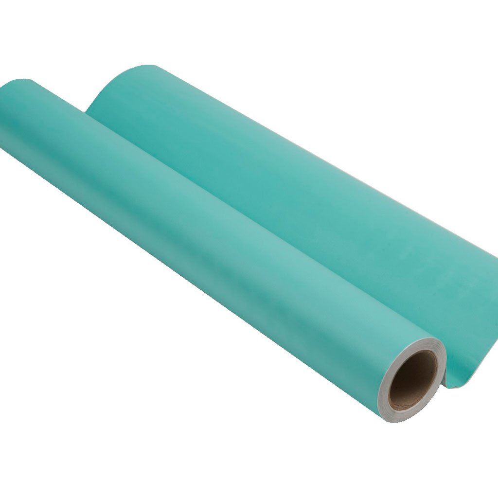 Teal peel and stick removable paint and solid teal wallpaper roll - Caribbean Blue TemPaint