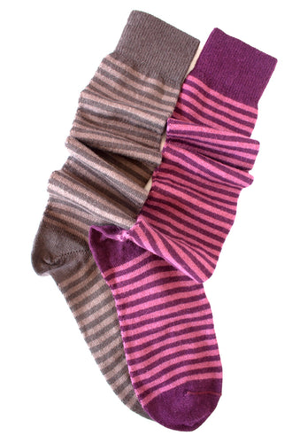 Stripe Alpaca Knee Sock - living-water-fibers-and-alpacas