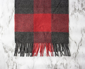 Buffalo Plaid Baby Alpaca Scarf