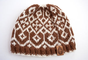 The Maggie Hand Knit Hat - living-water-fibers-and-alpacas