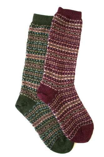 Fair Isle Crew Alpaca Sock - living-water-fibers-and-alpacas