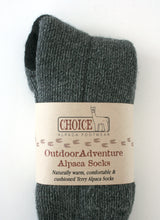 Load image into Gallery viewer, Outdoor Adventure Alpaca Sock - living-water-fibers-and-alpacas