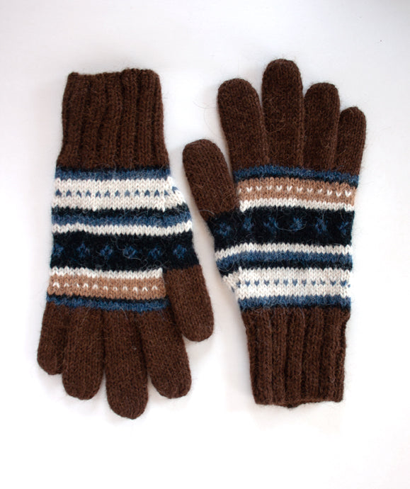 Patterned Alpaca Gloves - living-water-fibers-and-alpacas