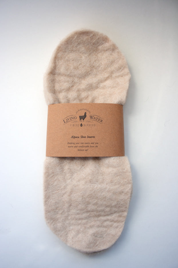 Felt Alpaca Shoe Inserts - living-water-fibers-and-alpacas