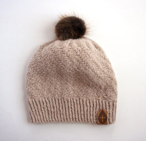The Moses Hand Knit Hat - living-water-fibers-and-alpacas