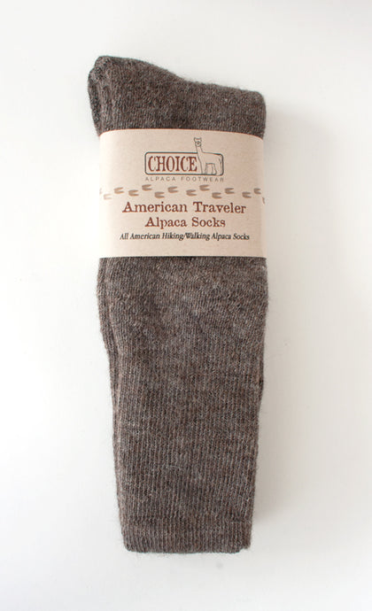 Boot Length Alpaca Hiking Socks - American Traveler - living-water-fibers-and-alpacas