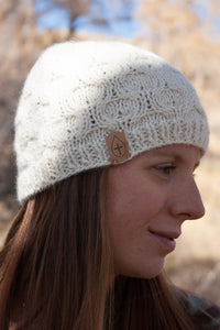 The Esther Hand Knit Cable Hat - living-water-fibers-and-alpacas