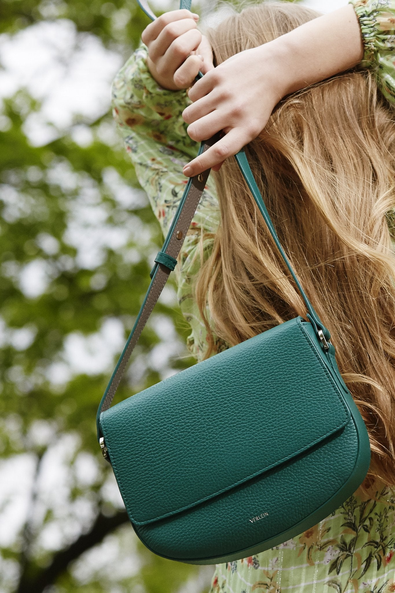 Ana Crossbody Bag - Emerald Green, from Verlein