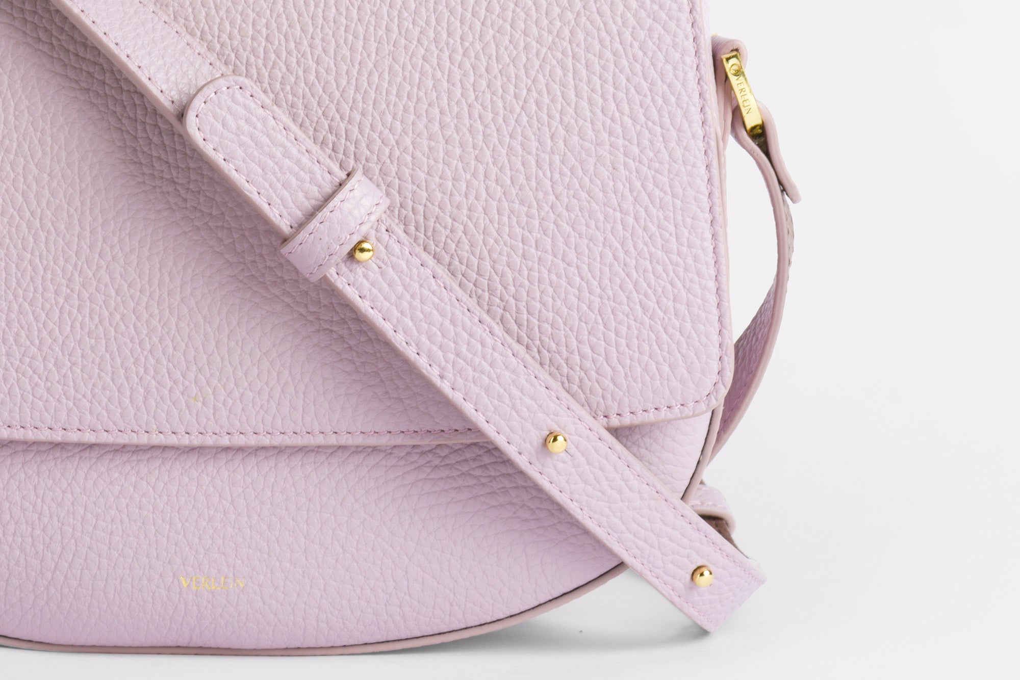 Close up of the strap from a Lavender Haze Ana Crossbody Bag from Verlein