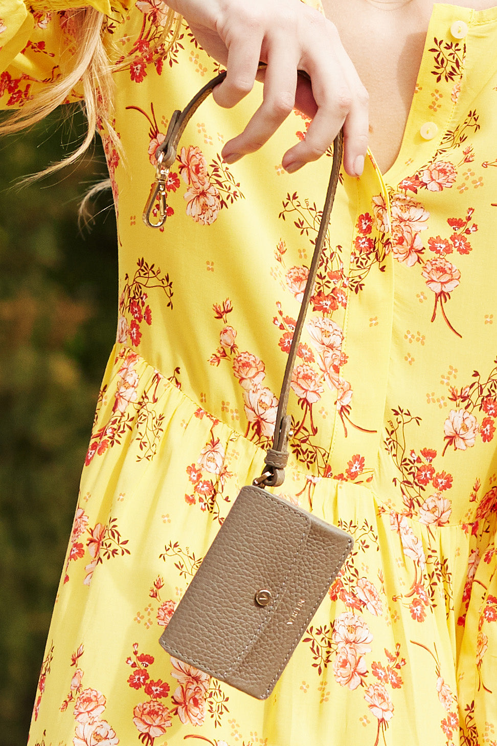 Verlein Taupe Ines Coinpurse, Yellow Dress