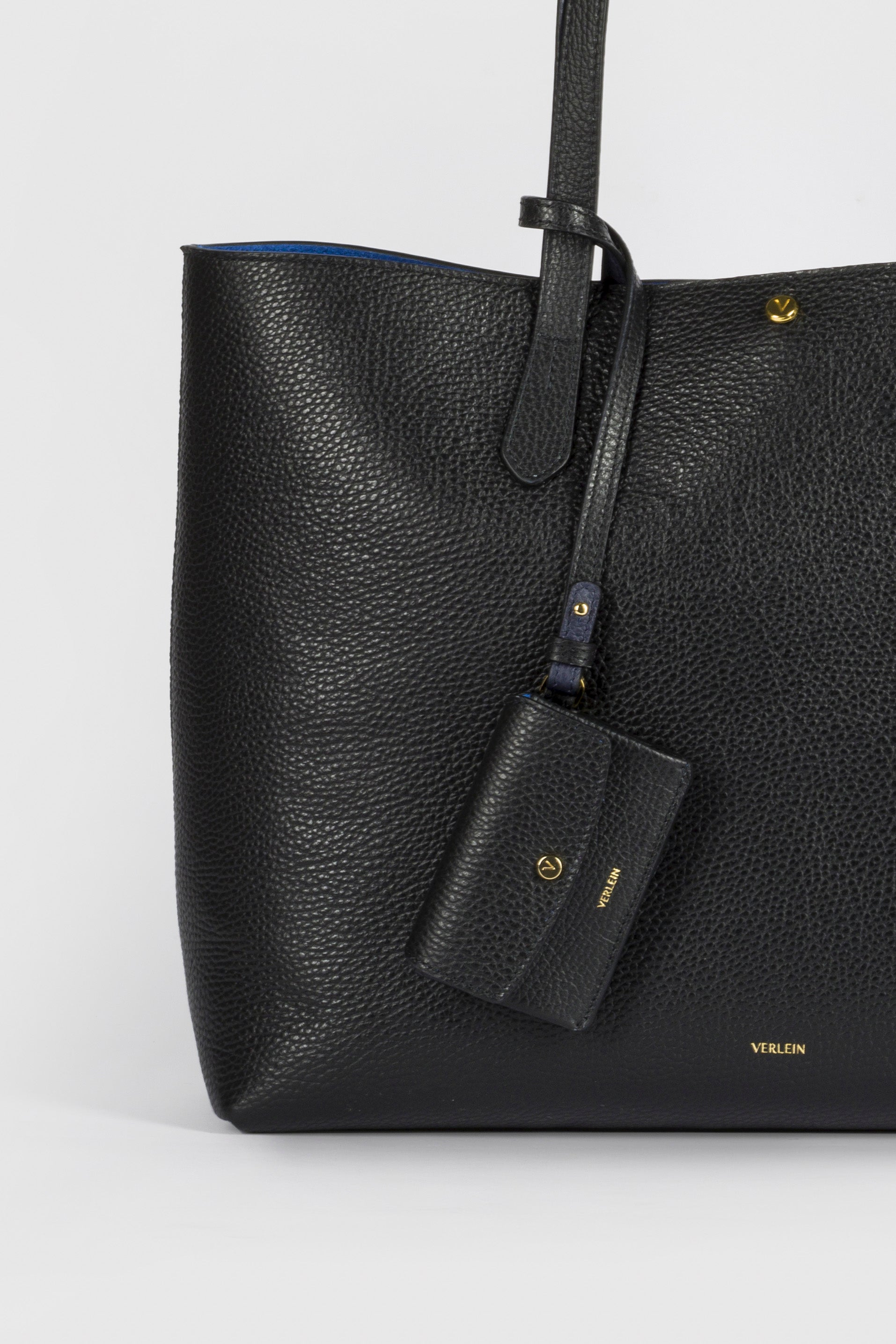 Jet Black Julia Tote Bag, with Inés Coinpurse, from Verlein
