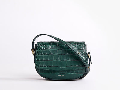 Mini crossbody Ana Croc, Amazon Green | VERLEIN