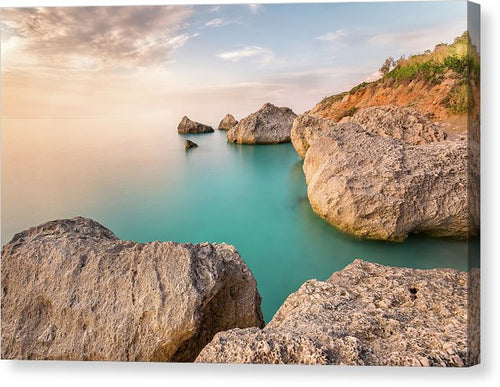Calm And Serenity At Kavalikefta Beach - Canvas Print