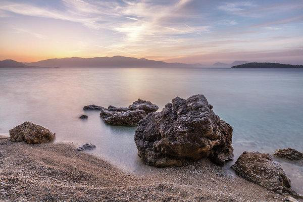 Dawn Colours At Pasa Beach - Fine Art Print
